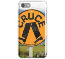 Spanish Crosswalk Sign iPhone Case/Skin