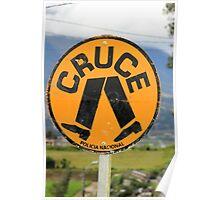 Spanish Crosswalk Sign Poster