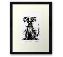 Mr Smelly the smelly dog Framed Print