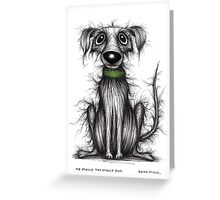Mr Smelly the smelly dog Greeting Card