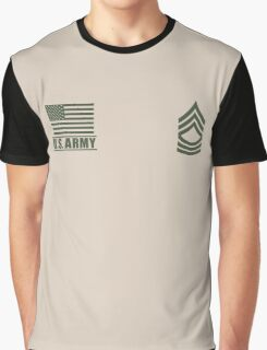 Master Sergeant Infantry US Army Rank by Mision Militar ™ Graphic T-Shirt