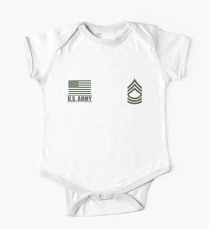 Master Sergeant Infantry US Army Rank Desert by Mision Militar ™ One Piece - Short Sleeve