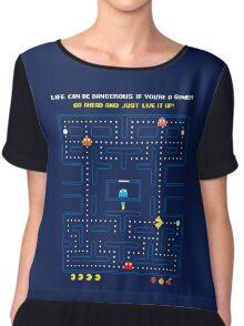 Pacman Game   Juego del Comecocos Chiffon Top