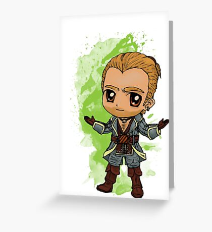 Varric Chibi Greeting Card