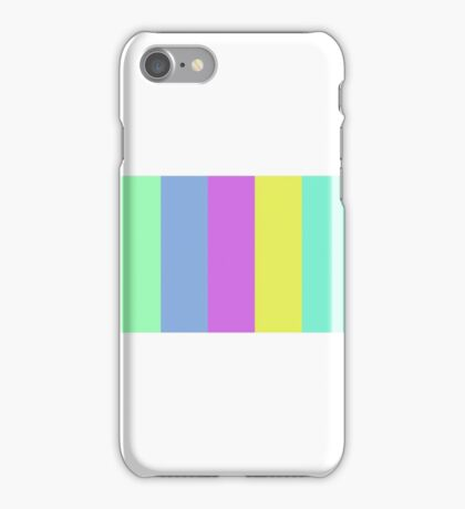 90s Pastel Stripes (Narrow) iPhone Case/Skin
