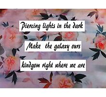Alessia Cara lyrics- Stars Photographic Print