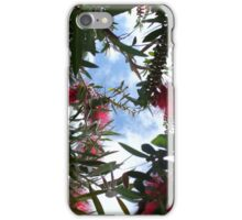 Under Red Bottle Brush Bush iPhone Case/Skin