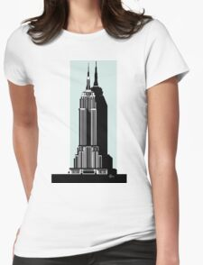 Empire State Building Deco Swing in blue Womens Fitted T-Shirt