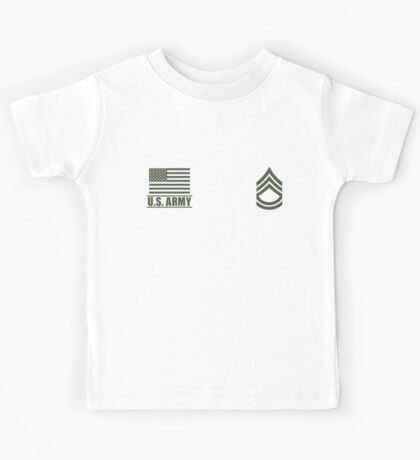 Sergeant First Class Infantry US Army Rank Desert by Mision Militar ™ Kids Tee