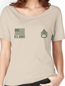 Staff Sergeant Infantry US Army Rank Desert by Mision Militar ™ Women's Relaxed Fit T-Shirt