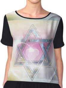 STAR OF DAVID-2- bless and protect- Art + Products Design  Chiffon Top