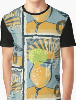 Coctail on the beach, vintage,Summer , see and sun Graphic T-Shirt