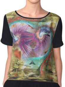 11-psychedelic abstract Chiffon Top