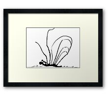 Blobsnail not Happy Framed Print