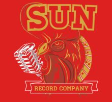 SUN RECORDS : MICROPHONE with ROSTER One Piece - Long Sleeve
