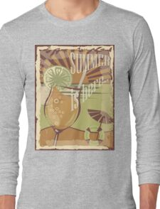 Coctail on the beach, vintage,Summer , see and sun Long Sleeve T-Shirt