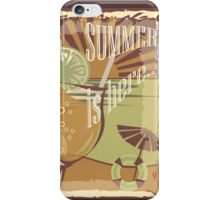 Coctail on the beach, vintage,Summer , see and sun iPhone Case/Skin