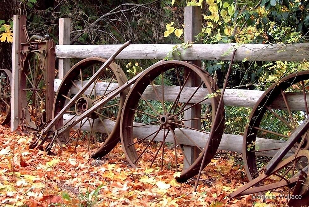Wheel Fence in Autumn by Marjorie Wallace