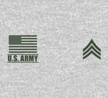 Sergeant Infantry US Army Rank by Mision Militar ™ One Piece - Long Sleeve