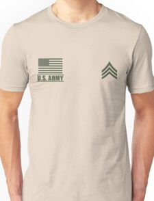 Sergeant Infantry US Army Rank Desert by Mision Militar ™ Unisex T-Shirt