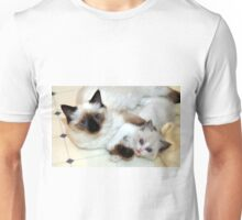 Ragdoll Mom and baby playing Unisex T-Shirt