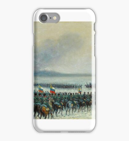 Count Matteo Lovatti (Rome b.), The Russian Army Mobilising Behind an Observation Balloon iPhone Case/Skin