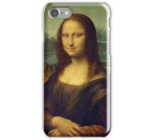 LEONARDO, Mona Lisa, Leonardo da Vinci, La Gioconda, 1503, Louvre, Paris, France, on BLACK iPhone Case/Skin