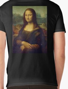 Mona Lisa, Leonardo da Vinci, La Gioconda, 1503, Louvre, Paris, France, on BLACK Mens V-Neck T-Shirt