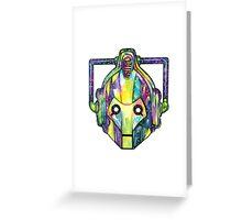 Galaxy Cyberman Greeting Card