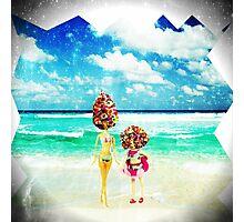 rainbow sprinkles surreal ice cream sisters Photographic Print