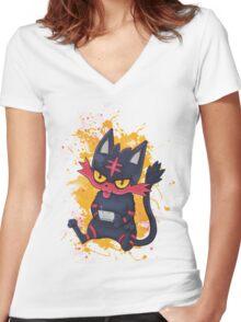 Gammer Litten Women's Fitted V-Neck T-Shirt