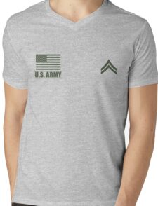 Corporal Infantry US Army Rank Desert by Mision Militar ™ Mens V-Neck T-Shirt