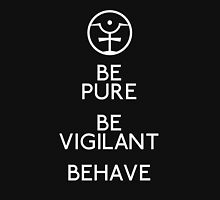 Be Pure, Be Vigilant, Behave Zipped Hoodie