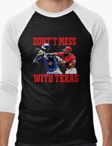 Dont't Mess With Texas  Men's Baseball ¾ T-Shirt
