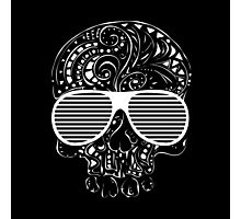 Limited Edition Tribal tattoo style gothic skull  Photographic Print