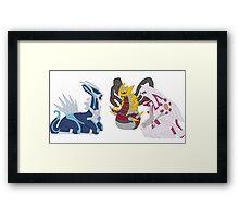 Pokemon - Creation Trio Framed Print