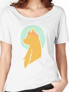 Flower crown fox Women's Relaxed Fit T-Shirt