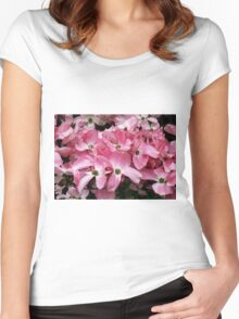Pink Dogwood Women's Fitted Scoop T-Shirt