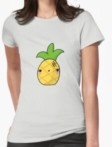Kawaii Cute Pineapple Tropical Womens Fitted T-Shirt