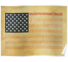 Typographical US Flag Poster