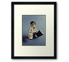 There is a geek amongst us! Framed Print