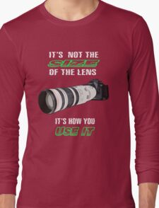 Size of the lens Long Sleeve T-Shirt