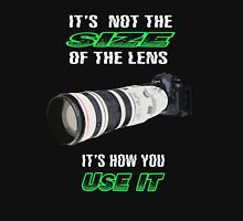 Size of the lens Unisex T-Shirt