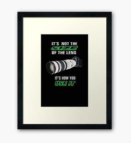 Size of the lens Framed Print
