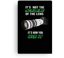 Size of the lens Canvas Print