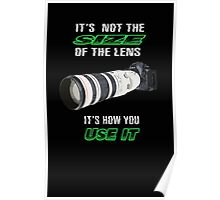 Size of the lens Poster