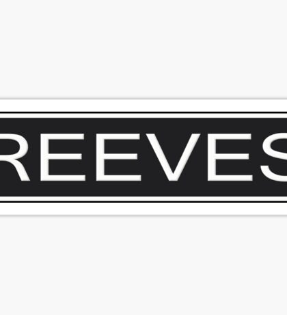 Reeves Amp Sticker