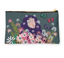 Floral Dream in Green Studio Pouch