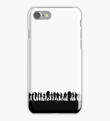 mass effect character silhouettes iPhone Case/Skin