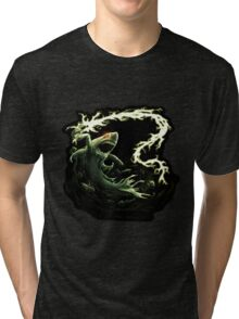 """Sharky Prime"" summoned by Mordecai Tri-blend T-Shirt"